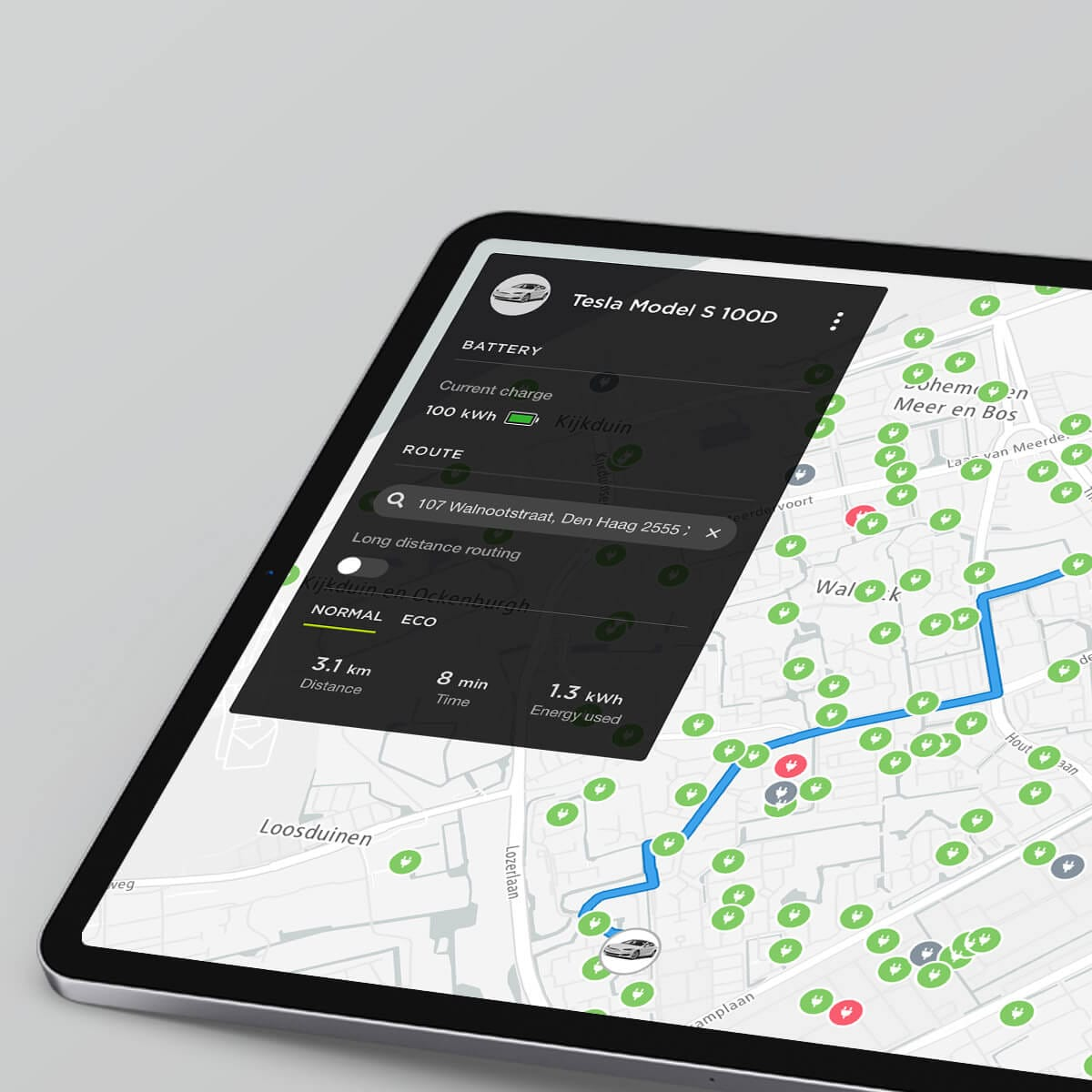 TomTom EV Route Planning API