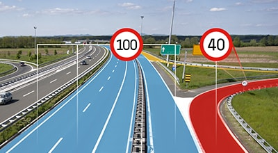 Driving safely with ADAS Map Speed Limits