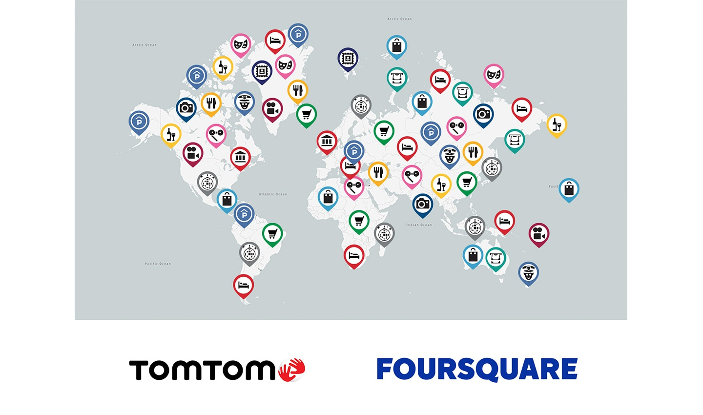 TomTom is partnering with Foursquare to integrate millions of new POIs into our database.