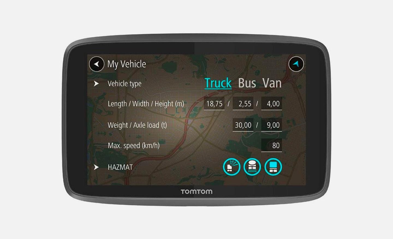 TomTom GPS Truck Navigation Trucker