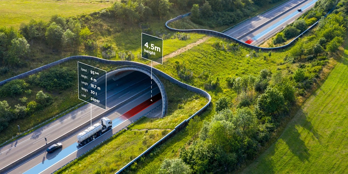 Advanced logistics data for truck routing