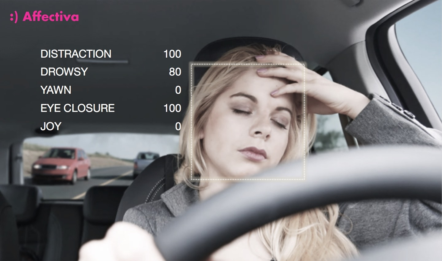 Affectiva detecting driver drowsiness