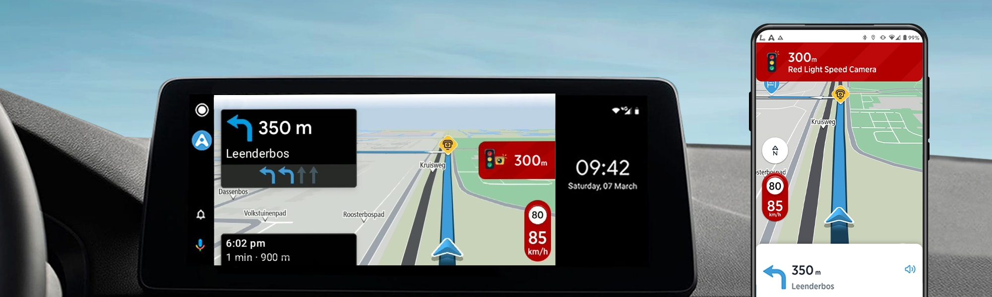 Bigger, better app navigation has arrived: Announcing TomTom AmiGO for Android Auto