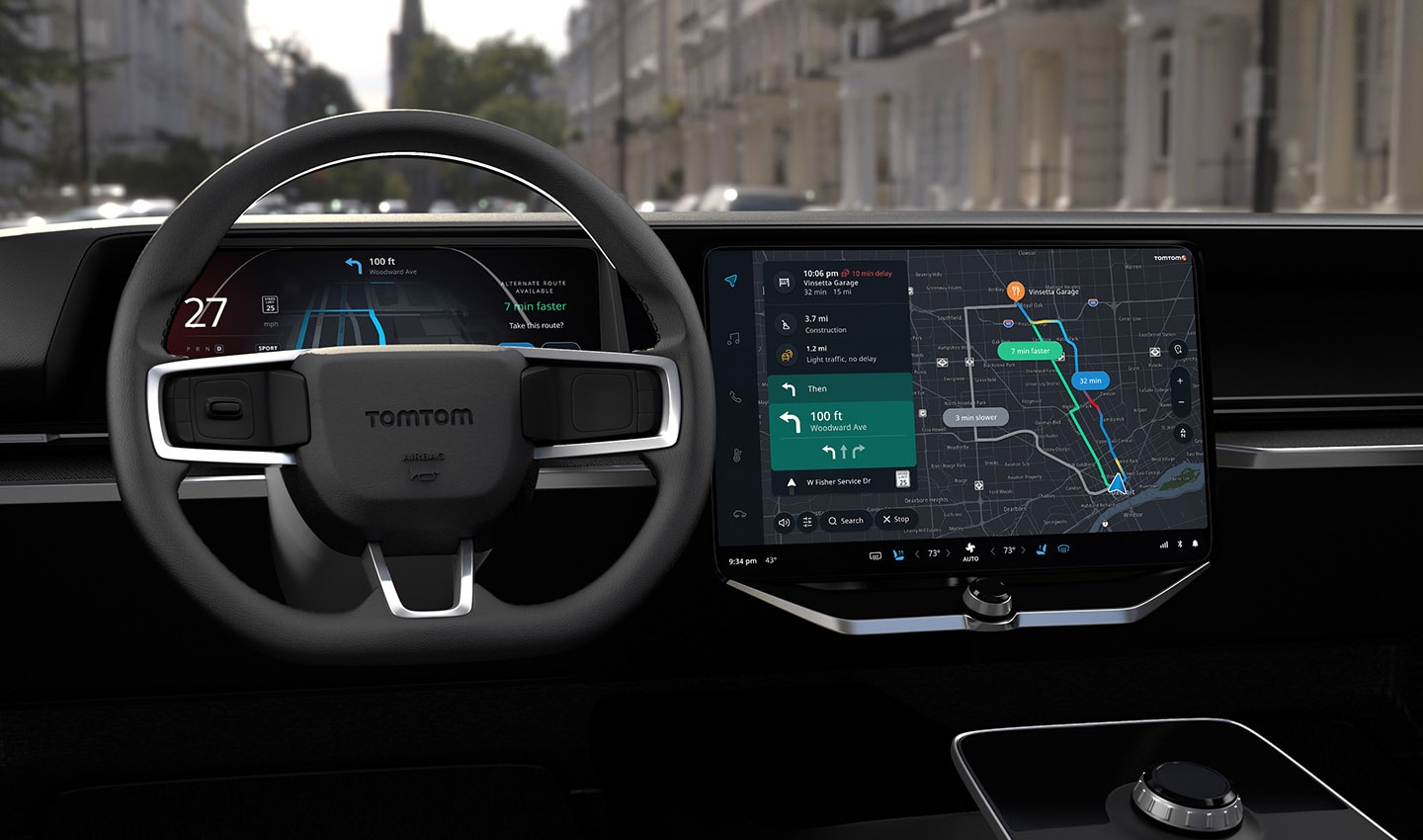 With detailed traffic flow data, embedded navigation systems can calculate ideal routes and precise arrival times