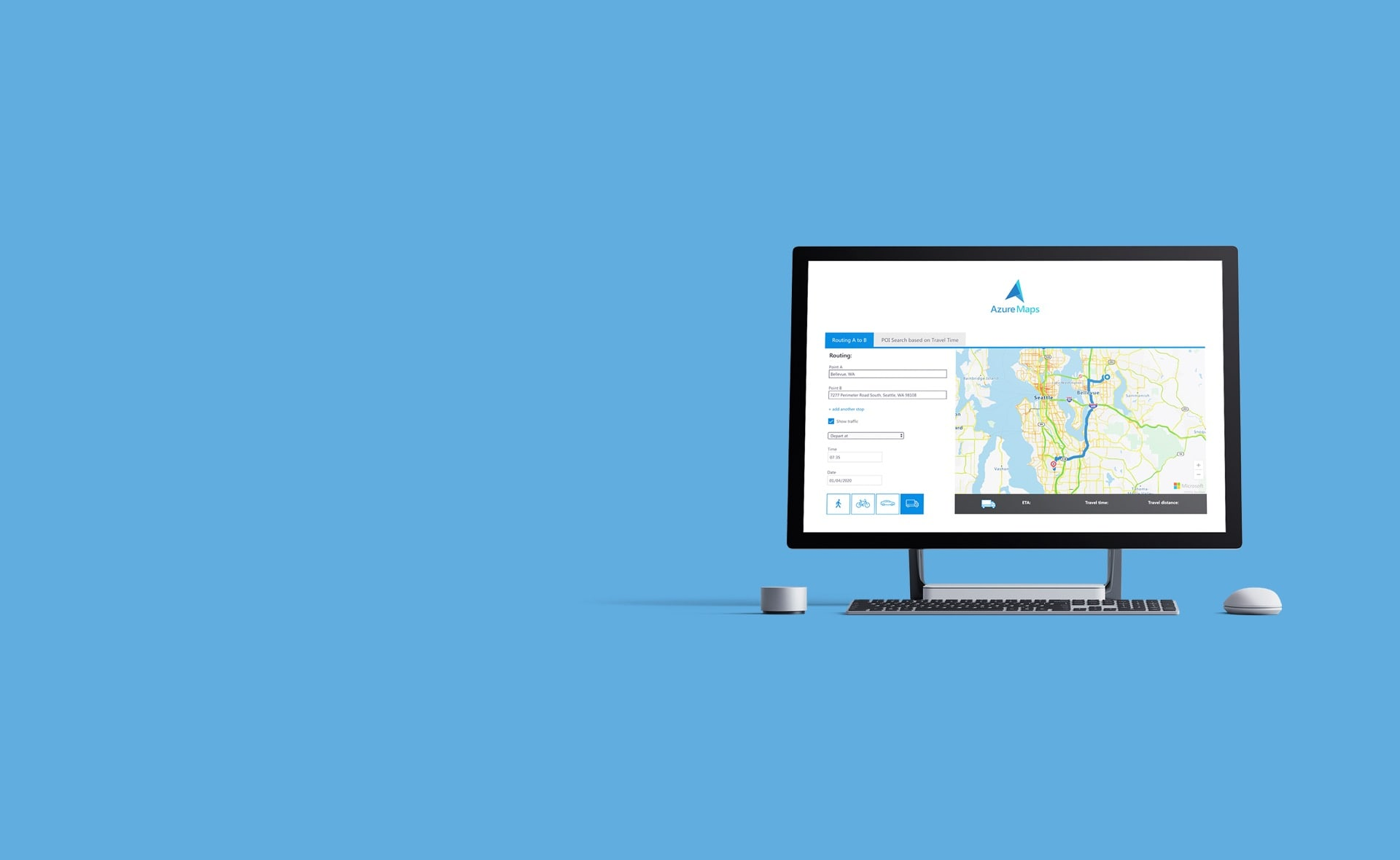 Microsoft Azure Maps and TomTom