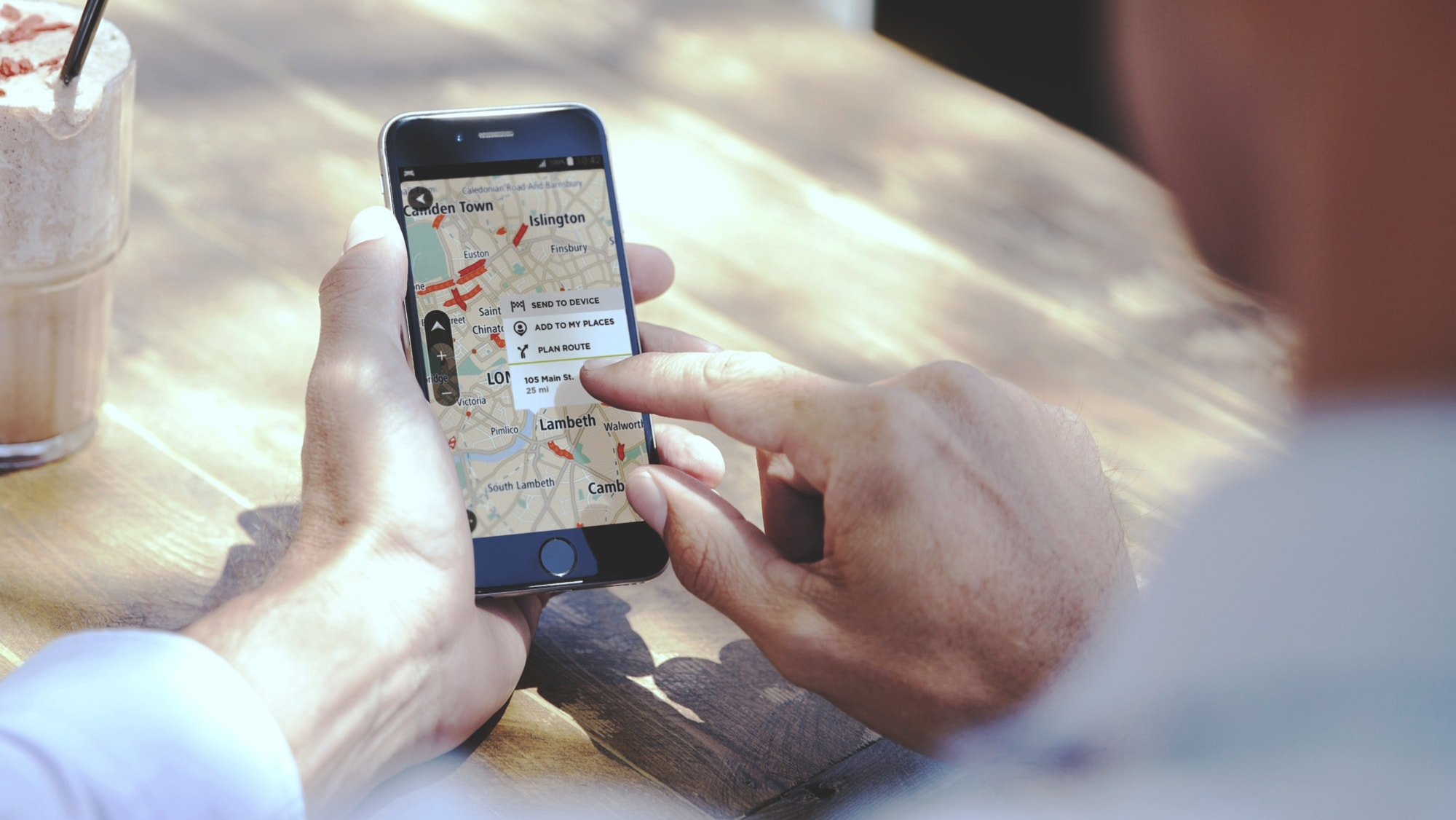 Pre-planning trips on the phone with TomTom GO Premium's app