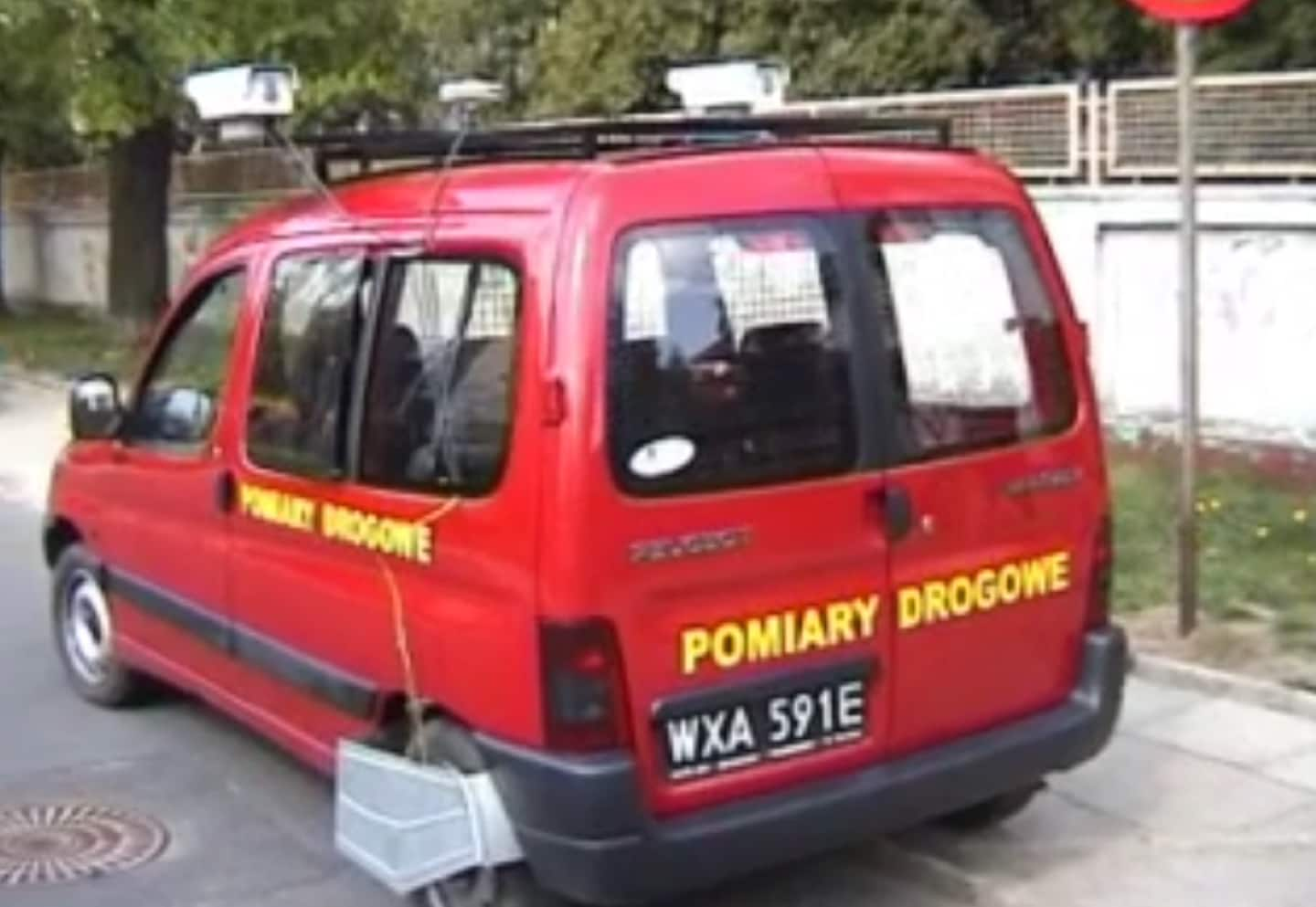 The Peugeot Partner van developed by the team in Poland. It paved the way for two decades of mobile mapping that followed its creation.