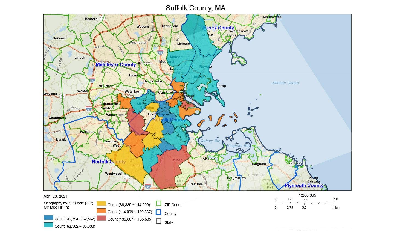 Visualizing population data using Claritas tools and TomTom geospatial data