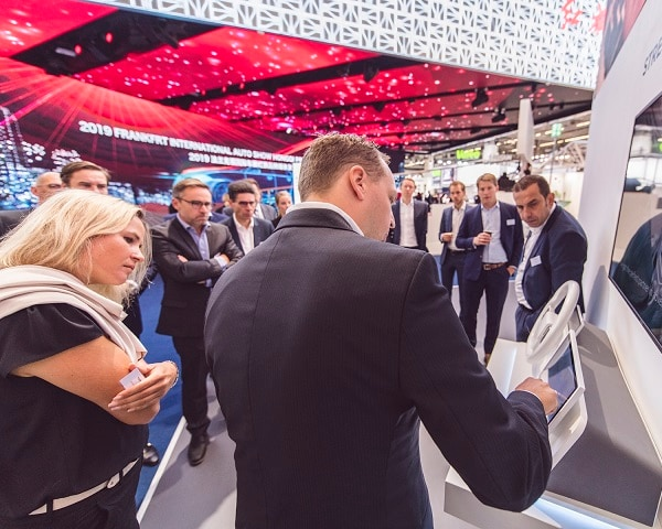 Demo in action showcasing the power of location technologies in IAA 2019