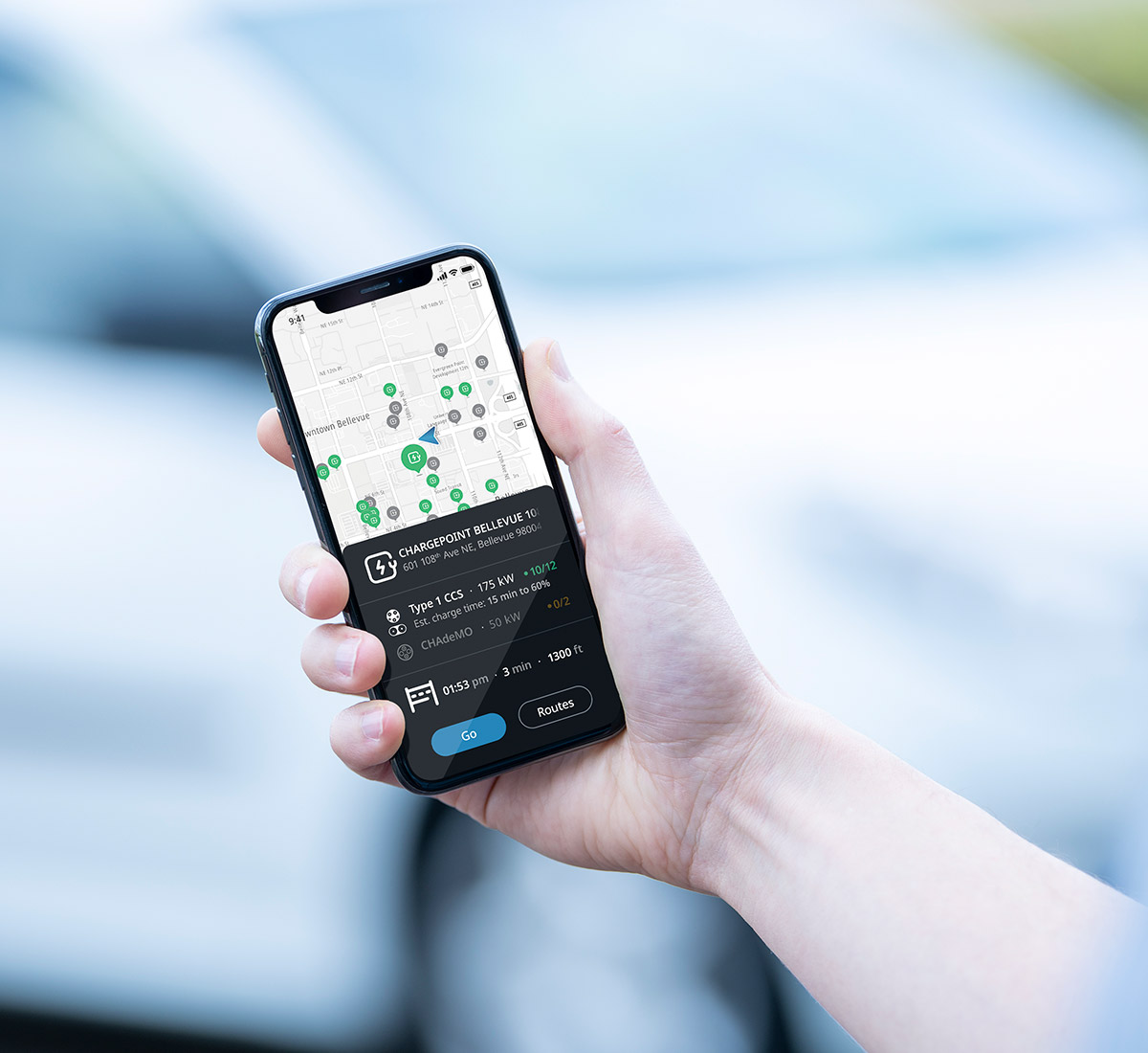 The TomTom EV Service comes fully integrated with TomTom Navigation for Automotive