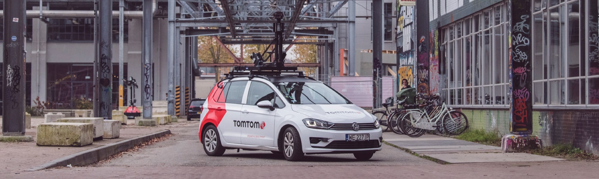 TomTom mobile mapping (MoMa) van