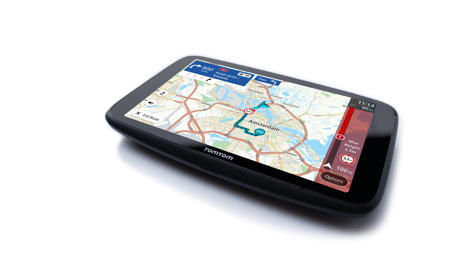 """Navigate with ease from a 7"""" touchscreen"""