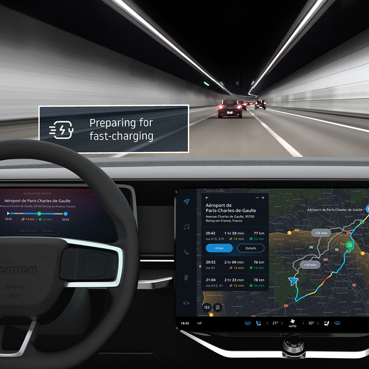 Maximize charging efficiency with in-dash integration