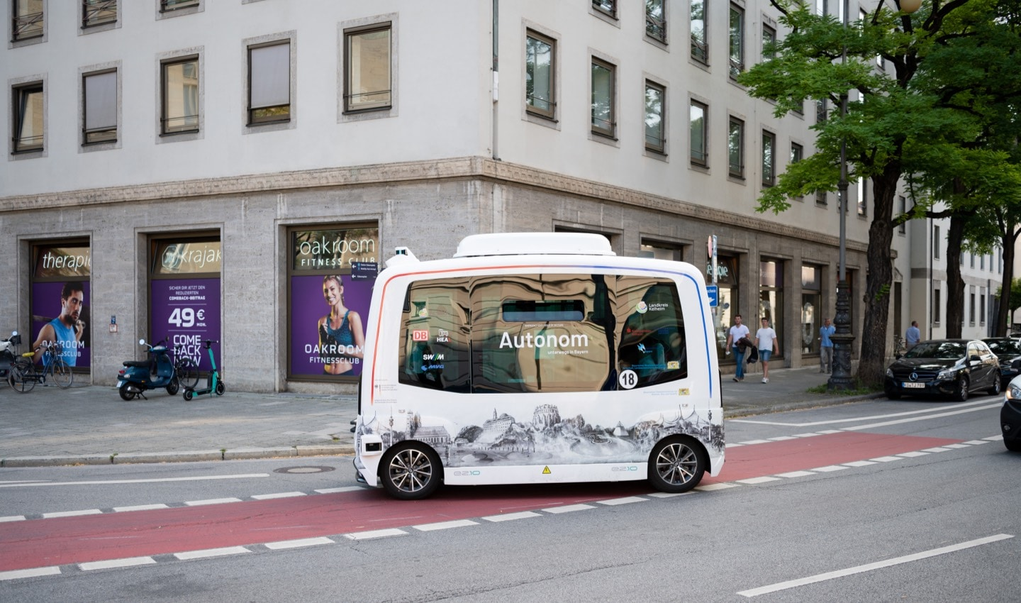 The IAA had its own autonomous shuttle bus driving through Munich during the event.