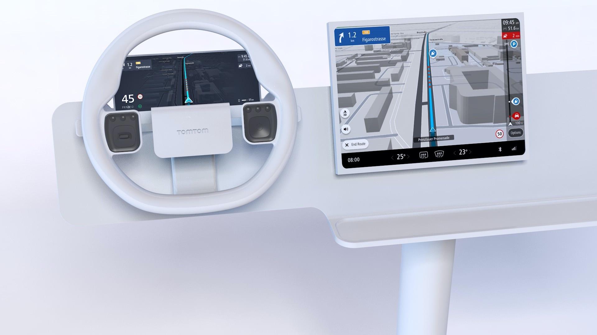 In-dash navigation software