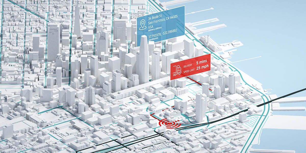 Reverse geocoding for vehicle and asset tracking
