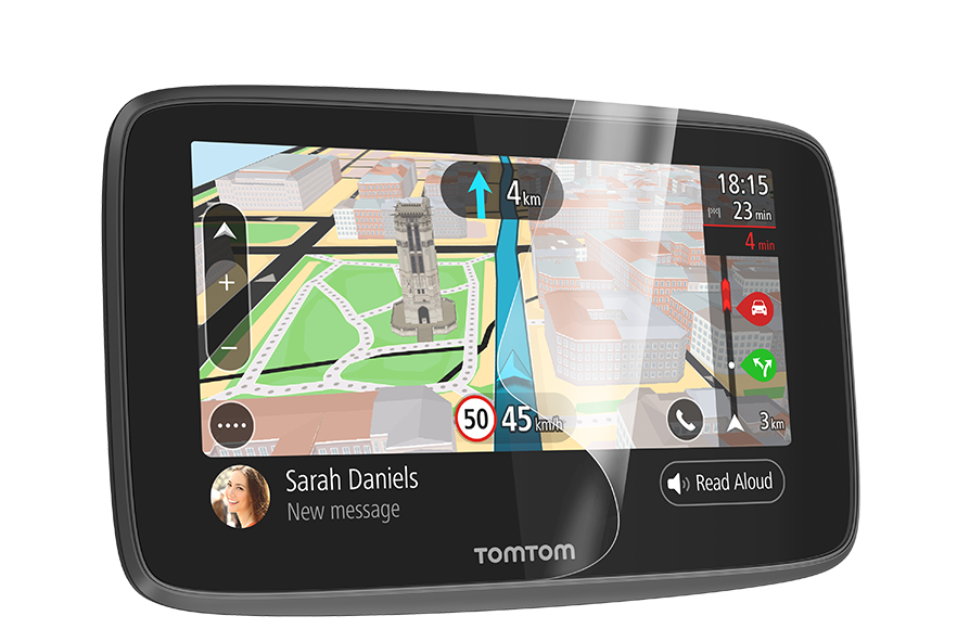 6 Savvies 6X Schutzfolie kompatibel mit Tomtom GO Essential Displayschutz-Folie Ultra-transparent