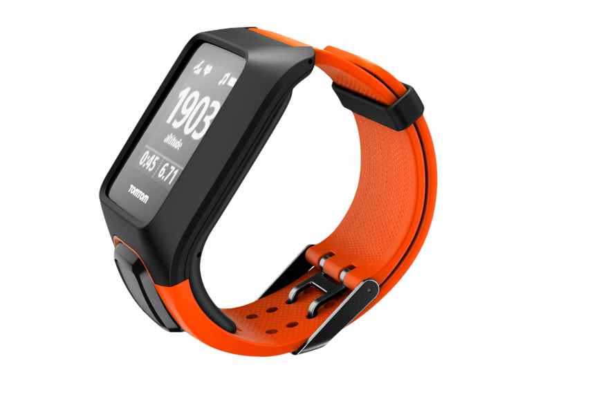 tomtom multisport uhren armband schwarz orange