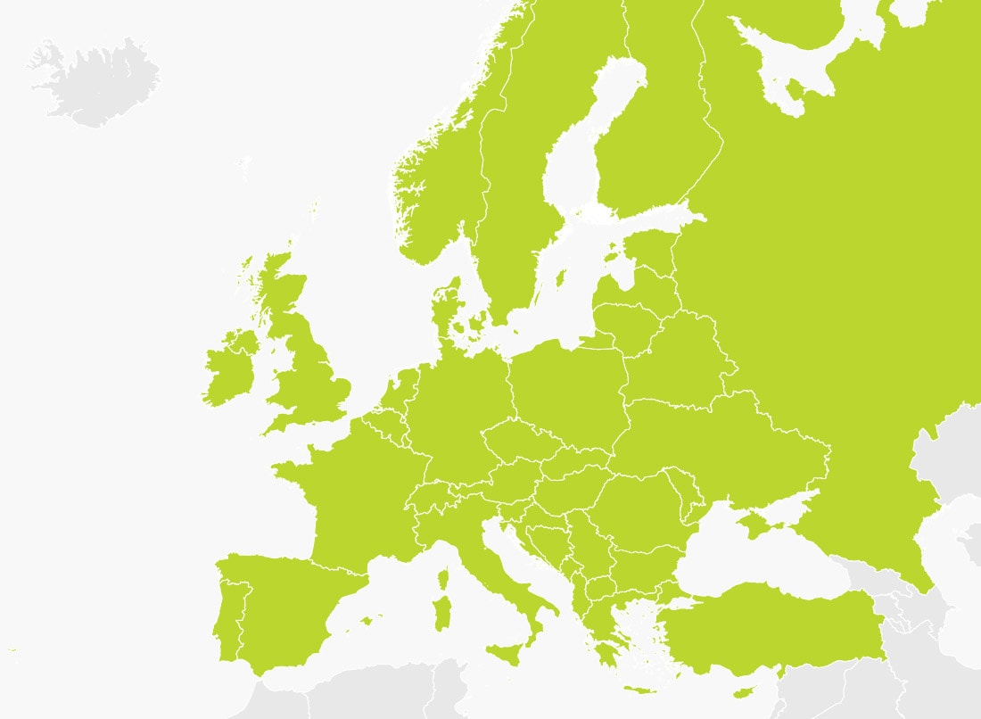 Map Of Europe Tomtom