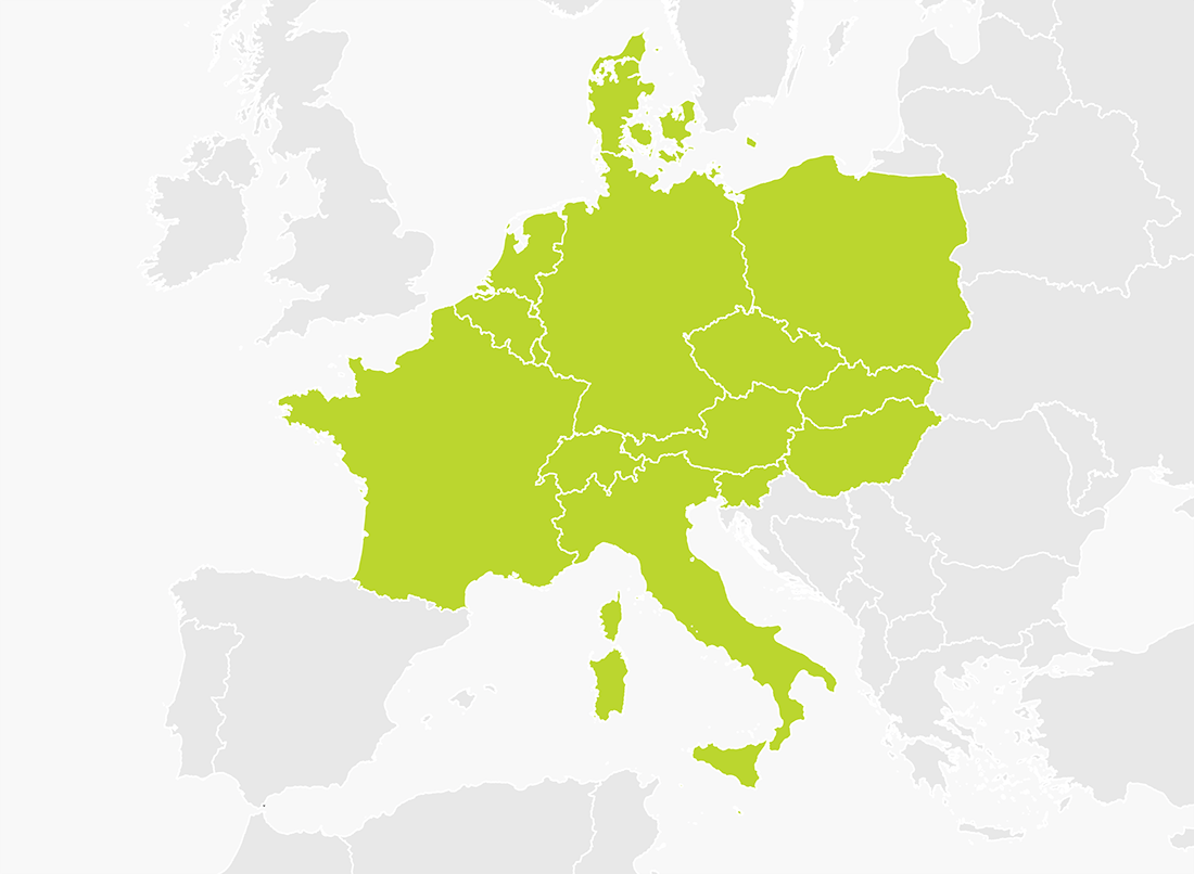 tomtom western europe coverage map Map of Central Europe | TomTom
