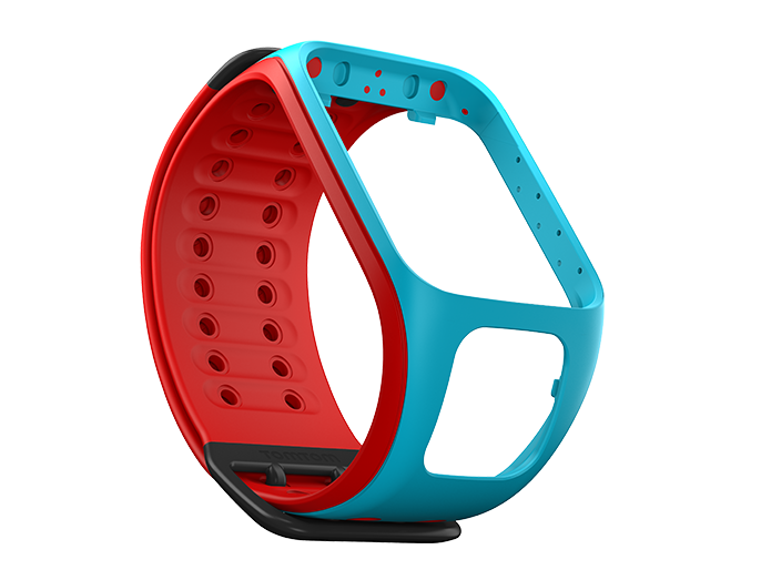 watch strap scuba blue red large