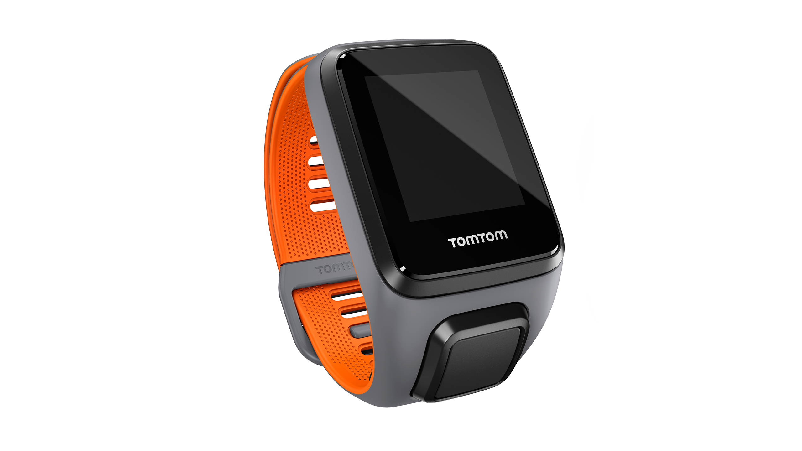 TomTom Runner 3/Spark 3 Watch Strap (Grey/Orange - Large)