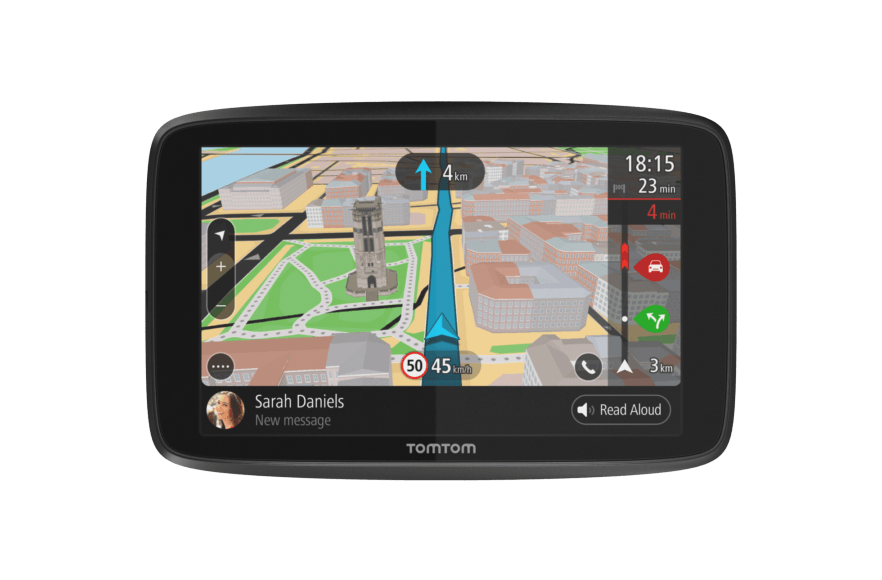 TomTom Car Sat Nav GO 5200 Updates via WiFi Smartphone Messages 5 Inch with Handsfree Calling Siri Lifetime Traffic via SIM Card and World Maps Capacitive Screen Google Now