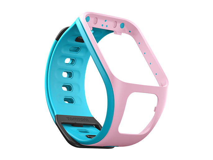 watch strap light pink scuba blue small