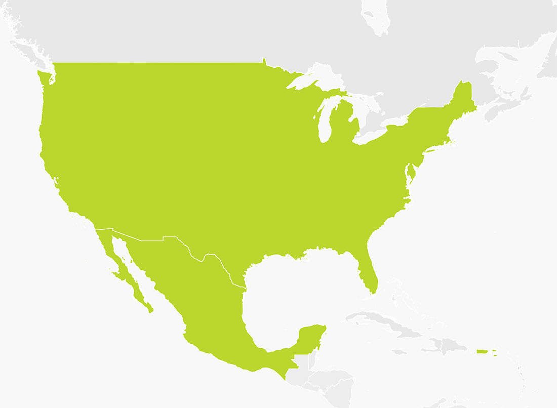 Map Of Usa And Mexico Map of USA & Mexico | TomTom