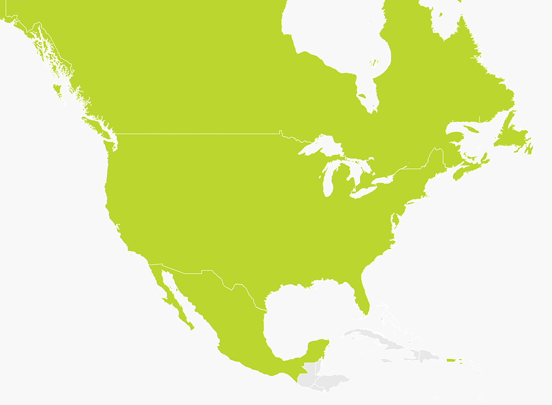 Map Of Usa Canada Mexico Map of USA, Canada & Mexico | TomTom