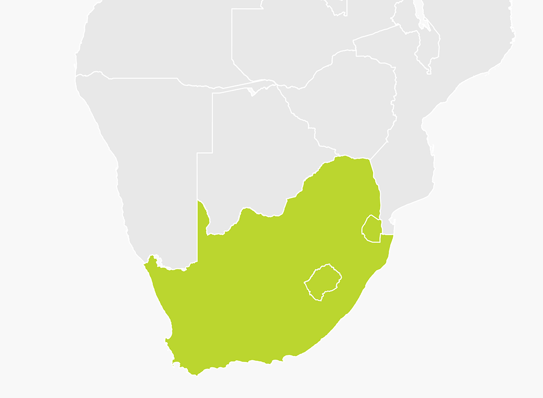 tomtom maps south africa Map Of South Africa Swaziland And Lesotho Tomtom tomtom maps south africa