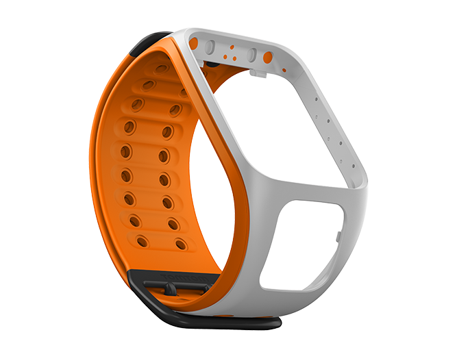 watch strap light grey bright orange large